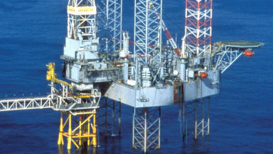 Transocean Galaxy II drilling the Marconi/Vorlich field in central North Sea. Free to use.