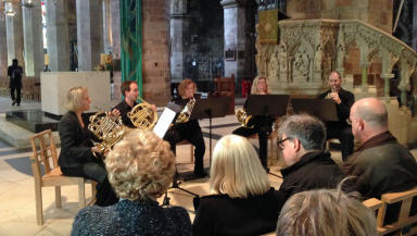 Canada's National Art Centre Orchestra performing at St Giles Cathedral on October 23, 2014.