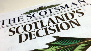 The Scotsman: Newspaper did not support Alex Salmond's push for independence.