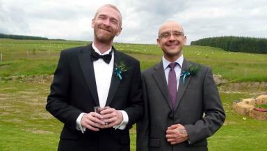 Malcolm Brown and Joe Schofield will become Scotland's first married gay couple.
