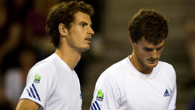 Murray brothers have played doubles for GB.