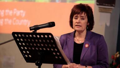 Sarah Boyack MSP Scottish Labour leadership campaign launch in Edinburgh November 7 2014 quality news image