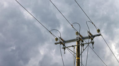 Overhead power lines. For power outage, power cuts, power shortage, electricity, electrical stories.  Creative Commons image uploaded November 10 2014 quality news image #cf14