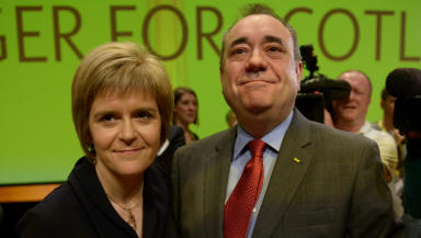 SNP: Nicola Sturgeon and Alex Salmond rarely criticise each other in public.