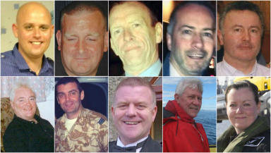 The victims of the helicopter crash.