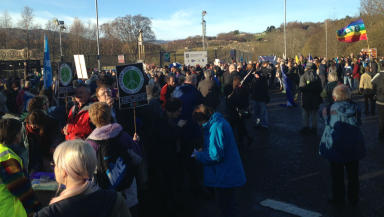 Scrap Trident demonstration at Faslane on November 30, 2014.