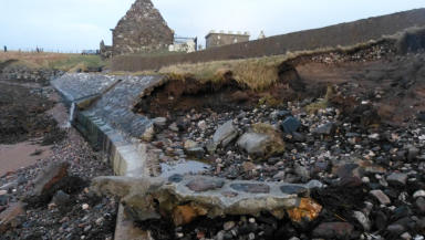 Iain Maciver Rib bones found on the shoreline were washed down the cliffside at the Ui Church on the Braighe causeway at Aignish, near Stornoway