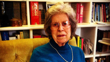 Ann Mitchell 92-year-old Bletchley Park codebreaker January 8, 2015.