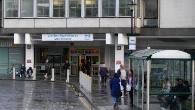 Critical: The elderly man is being treated at Aberdeen Royal Infirmary (file pic).