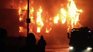 Blaze at Fresh Catch fish factory in Peterhead, Saturday, January 17, 2015.