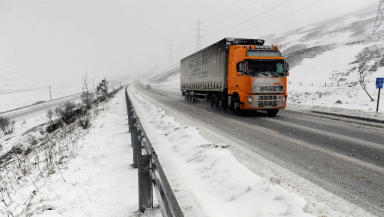 Snow: Could cover roads across the north.