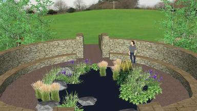 Potential design for memorial garden at Mortonhall crematorium.