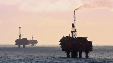 North Sea: Scottish oil and gas worth £17.bn last year (file pic).