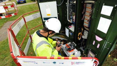Broadband: Speeds of up to 30mbps have been promised.