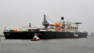 Pieter Schelte oil platform installation/decommissioning and pipelay vessel built for the Allseas company Creative Commons image from Wikipedia