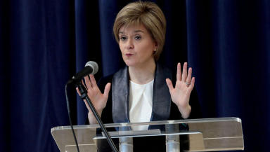 First Minister Nicola Sturgeon speaking on February 9 2015 quality news generic image