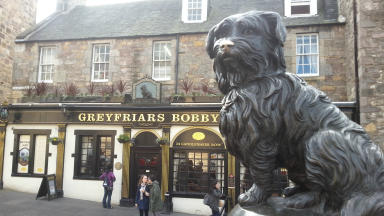 Greyfriars Bobby: Council has had to repair damage done to paintwork.