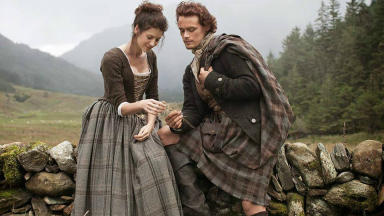Outlander: Caitriona Balfe and Sam Heughan have been praised for their voice work (file pic).