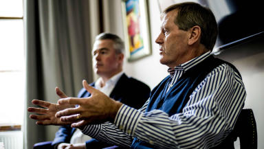 Dave King speaks to the press at the Level 5PR offices about his thoughts on Rangers' future.