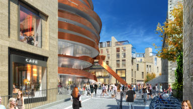 Jestico + Whiles  design of the hotel at the St Jame development.