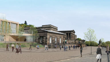 Edinburgh Royal High School hotel development proposed. Pic from architects.