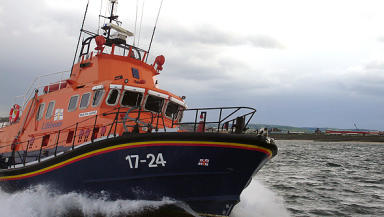 Lifeboat: Two kayakers rescued from Peterhead harbour.