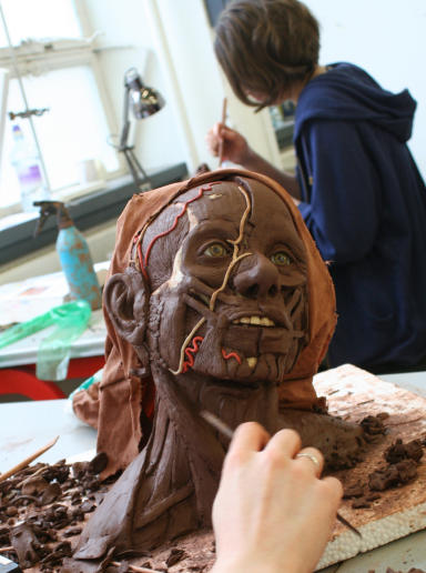 Facial reconstruction at Dundee University.