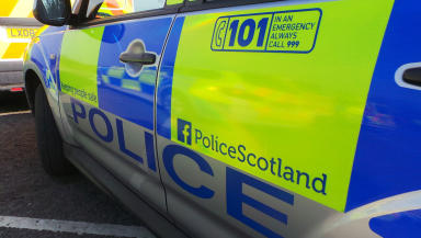 Crash: Police vehicle collides with traffic lights in Aberdeen (file pic).