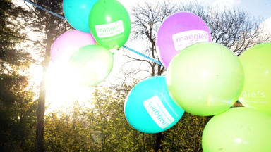Maggie's Centre balloons