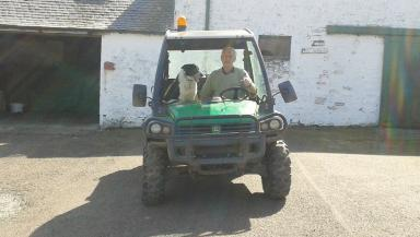 Farmer and Don the sheepdog who drove a tractor onto the M74 motorway Quality news image uploaded April 22 2015