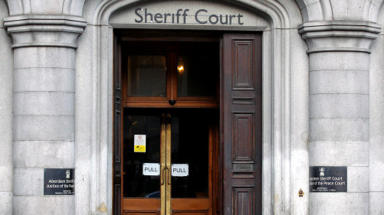 Aberdeen Sheriff Court ext gv quality news image from Press Association (PA). Uploaded APril 24 2015