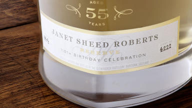 Special Malt: The bottle produced to celebrate Mrs Roberts' life.