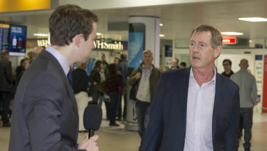 Dave King speaks to STV at Glasgow Airport after being passed fit and proper by the Scottish FA.