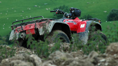 Quad bike: Alarm was raised by member of the public (file pic).