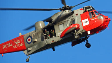 Royal Navy Rescue helicopter from HMS Gannet in Prestwick. Generic image, high quality. Uploaded from Flickr, Creative Commons July 7 2015
