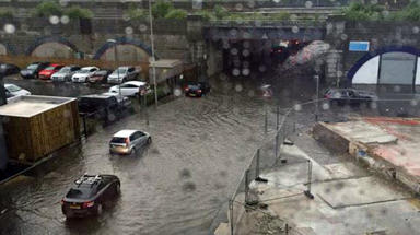 Flooding in Aberdeen during rain on July 7 2015. Free photo from Fubar News