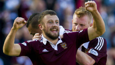 Dale Carrick, Hearts, September 2014.