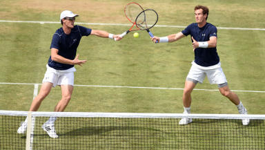 Aces: Jamie and Sir Andy Murray on the way to Davis Cup glory in 2015.