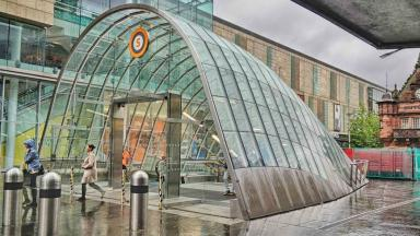 New entrance: Part of the revamp at St Enoch.