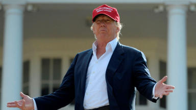 Trump Ayrshire: Billionaire during visit to Scotland.