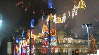 Glasgow city centre will be lit up on Sunday.