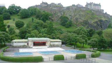 Ross Bandstand Princes Street Gardens Edinburgh Creative Commons image from Wikipedia uploaded September 1 2015