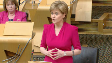Deal: The First Minister will address Holyrood. (file pic)