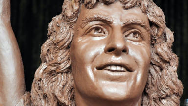 Bon Scott AC/DC Kirriemuir Angus statue mold clkose news iamge uploaded September 7 2015