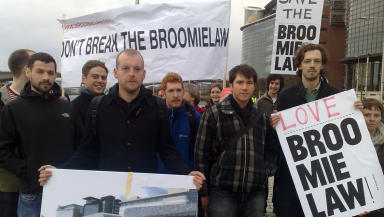 Broomielaw protest: Call to halt development.