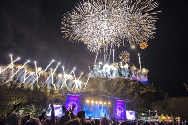 Party: The organisers of Edinburgh's Hogmanay celebrations are behind the campaign.