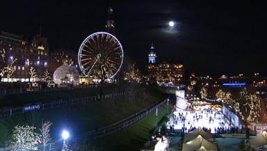 Christmas: The ice rink is part of the festive celebrations in the capital.
