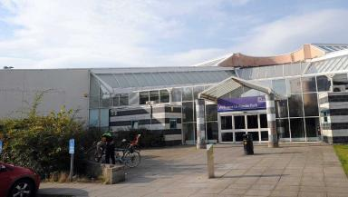 Public pool: The couple are said to have been caught at Ainslie Park Leisure Centre.