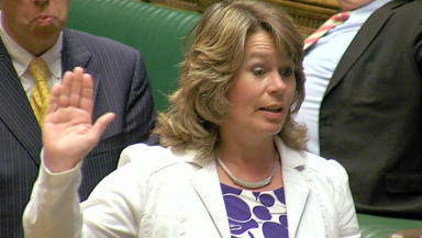 Michelle Thomson SNP MP for Edinburgh West swearing in at Parliament news image from broadcast uploaded September 30 2015