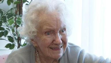 Celebration: Mrs Davidson turned 100 on Thursday.
